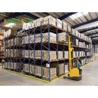 Quality Q235B Steel   Push Back Racking ,  Blue Industrial Storage Racking Systems for sale