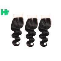 China Body Wave Human Hair Closure Pieces , Middle Part Remy Human Hair Extensions on sale