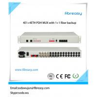 Quality PDH MUX 4e1 plus 4*10/100M ethernet dual fiber port  single mode pdh fiber optic multiplexer for sale
