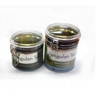 Quality Bulk round tea tins with clear window for sale