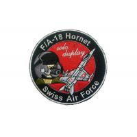 Best Leather, Felt, Jean Swiss Air Force Embroidery Patch With Iron Glue On Back Side wholesale