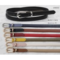 Feather Edge Skinny PU Womens Fashion Belts Metal Loop / Pointed Belt Tip