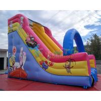 China Spongebob Animation Blowup Inflatable Slide Fully Digital Printing Structure on sale