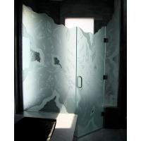 Quality China acid etched tempered shower glass door prices for sale