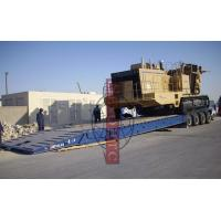 Quality Quad Axle Lowboy Gooseneck Trailer , Front Loading Detachable Hydraulic Low Bed Trailer for sale