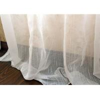 Buy Upholstery White Sheer Curtain Fabric / Extra Wide Polyester Voile Fabric at wholesale prices