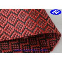 Quality High Tensile Red Carbon Fiber Kevlar Fabric With Jacquard Sudoku Pattern for sale