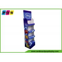 Retail Stores Portable Cardboard Merchandising Displays With 4 Trays And CMYK Printing FL170