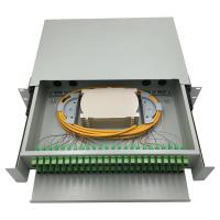 Buy 48 port rack mounted fiber optic patch panel / wall mounted fiber optic terminal at wholesale prices