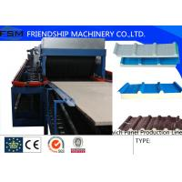 Best Rock Wool / Glass Wool / PU Sandwich Panel Production Line With Double-Belt Conveyor wholesale