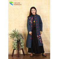 Quality Fashion Chinese Style Embroidered Winter Coats Comfortable With Long Sleeve for sale