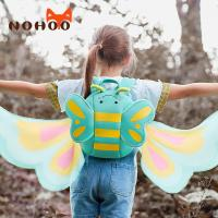 Quality Nohoo factory price blue butterfly 3D cartoon backpack preschool neoprene Backpack for girls for sale