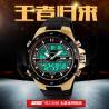 Best Analog Golden Digital Watches Waterproof Strong Durable EL Backlight wholesale