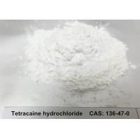 Quality Tetracaine Hydrochloride HCL Powder CAS 136 - 47 - 0 White Crystalline Solid for sale