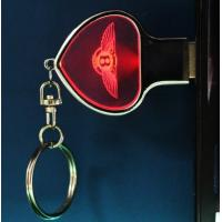 Quality zinc outback heart shaped usb cristal with interior 3D logo for sale