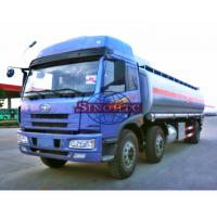 Quality 20 - 28 Tons Heavy Duty Fuel Carrier Truck , Gasoline / Liquid Chemical Tanker Truck for sale
