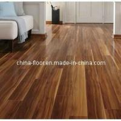 Quality Glossy Walnut Laminate Wood Flooring for sale