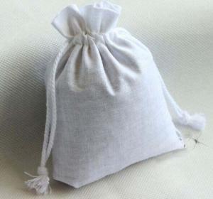 China blank cotton drawstring bag/ plain cotton drawstring pouch on sale