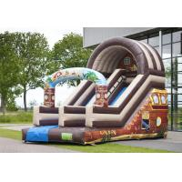 China Full Print Attraction Playground Professional Commercial Inflatable Slide For Kids Playing on sale