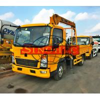 Quality 4x2 HOWO Cargo Transport Truck Chassis Truck Mounted Crane 120 - 140hp Power for sale