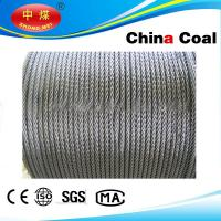 Quality Stainless, PVC Coated / galvanized, ungalvanized steel wire rope for sale