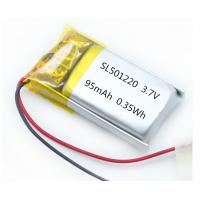 Quality OEM UL WERCS approved 501220 95mAh 3.7V small Li-polymer battery for smart wristband for sale