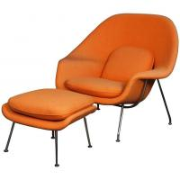 Buy Designer Furniture Replica Eero Saarinen womb chair with ottoman at wholesale prices