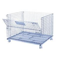 Quality 50x50 Wire Mesh Container Without Castors For Raw Material Storage for sale