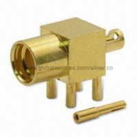 Quality MMCX R/A Jack for 1.13 cable & PCB Mount, 50 ohms RF Coaxial Connector for sale
