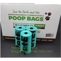 China factory supplier Compostable Recyclable Clear Poly Bags Custom Logo Seal Garbage Bag,dog poop bag, doggy bag, pet suppli on sale