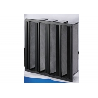Quality High Capacity V Bank Filter Activate Carbon Filter Remove VOCs CO2 for sale