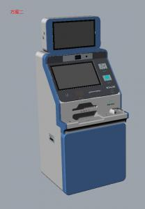 Quality ARM processor IC Card Reader Self Service Kiosk With Surveillance Camera for sale