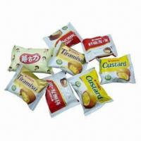Quality Snack packing pouch with three sides seal, used for potato sticks and pies for sale