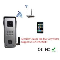 Quality Wireless 2G/3G/4G/WIFI Video Door Phone Unlock Anywhere intercom system safe monitor for villa for sale