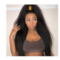 China No Synthetic Kinky Straight Indian Remy Human Hair Extensions For Black Ladies on sale
