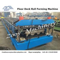 Quality 26 Forming Steps Floor Deck Roll Forming Machine With PLC Control Panel , 7.5KW Hydraulic Station for sale