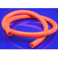 Quality Ultraviolet Resistance Silicone Sponge Tubing , Red Rubber Foam Insulation Tube for sale