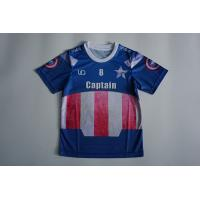 Quality Sublimation Mesh Dry Fit O Neck Children's Soccer Jerseys With Blue Color for sale