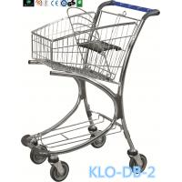 Best Chrome Plated Low Carbon Steel Airport Luggage Trolley Cart With Baby Seat 40L wholesale