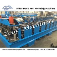 Quality Hydraulic Punching Metal Deck Roll Forming Machine With 0.8MM - 1.6MM Thickness For Roofing for sale