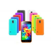 Quality Plain Color Silicone Samsung Glaxy S5 Mini Case Cover Simple Durable Anti-slip for sale