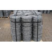 Quality Four Barbs Electric Zinc Barbed Wire Double Strand With 2.1mm Diameter for sale