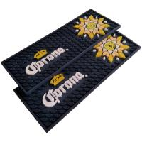 Quality Custom Soft Touch PVC Rubber Beer Rectangular Bar Mat Spill Mat Rail Drip Mat for sale