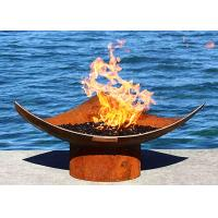 Quality Corten Steel Modern Fire Bowls Outdoor , Large Metal Fire Pit 50cm Height for sale