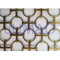 Quality Interior Chainmail Metal Mesh Curtain Bronze Space Divider For Decorations for sale
