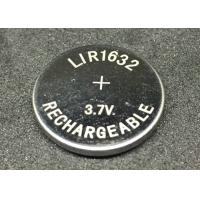 Quality Professional Li Ion Button Battery LIR1632 25mAh Li Ion Coin Cell Rechargeable for sale