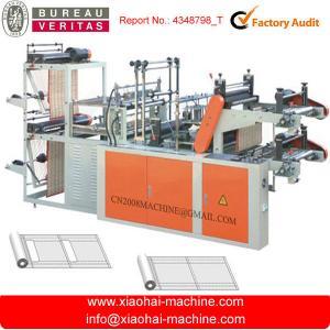 China Two Layer Supermarket Plastic Sack Making Machine Servo Motor Control on sale