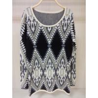 China Computer Knitted Jacquard Sweaters female Knitted Pullover Wool / Acylic on sale