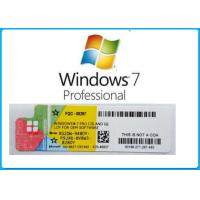 Quality Product Key Windows 7 Professional Full Package English Language With DVD OEM BOX for sale