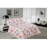 Quality Cockscomb Flower Double Bed Quilt Covers , Microfiber Fabric Quilt Cover Sets for sale